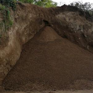 Kies und Sand: Mutterboden-Kiesgrube Leimig -Rheinland-Koblenz-St-Sebastian